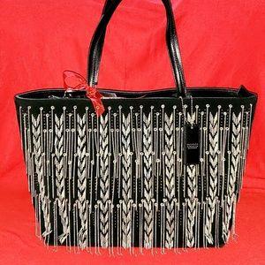 Cromia Chain, Suede, Leather Handbag